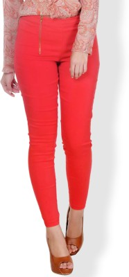 Pera Doce Skinny Fit Women,s Red Trousers