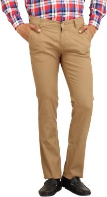 Stylz Regular Fit Men's Linen Beige Trousers