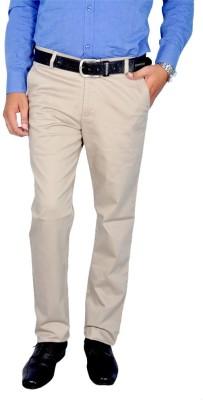 American Chinos Regular Fit Men's Cream Trousers