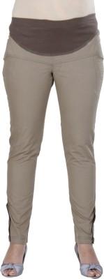 Morph Maternity Slim Fit Women's Brown Trousers