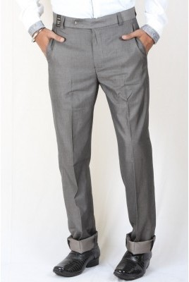DMARK Slim Fit Men's Grey Trousers