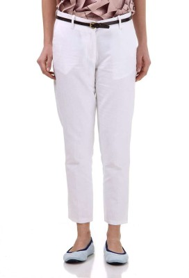 Vero Moda Slim Fit Women's White Trousers