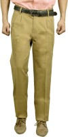 Studio Nexx Regular Fit Mens Gold Trousers