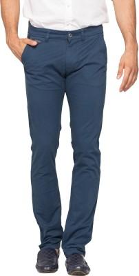 Spykar Slim Fit Men's Blue Trousers