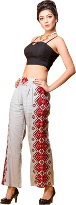Saree Exotica Regular Fit Women's White Trousers