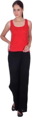 eWools Slim Fit Women's Black Trousers