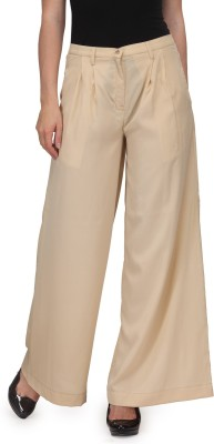 Just Wow Regular Fit Women's Beige Trousers