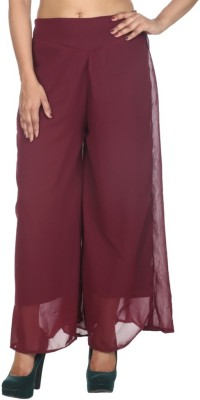 Hardys Slim Fit Women's Maroon Trousers