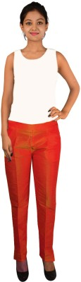 Vedache Regular Fit Women,s Red Trousers