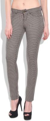 Chlorophile Skinny Fit Women's Brown Trousers