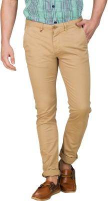 Zovi Slim Fit Men's Brown Trousers
