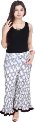 Geroo Regular Fit Women,s White, Black Trousers