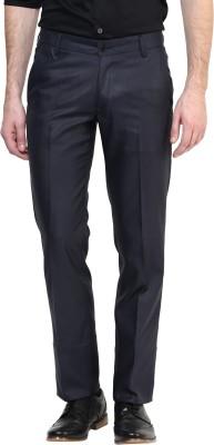 BUKKL Slim Fit Men's Blue Trousers