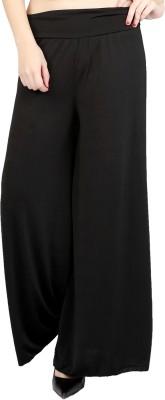 DAMEN MODE Regular Fit Women's Black Trousers