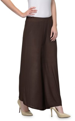 Luv Valentina Regular Fit Women's Brown Trousers