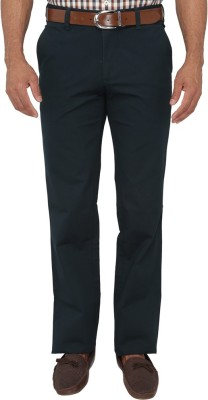 Greenfibre Slim Fit Men's Blue Trousers