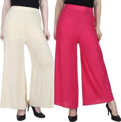Manash Fashion Regular Fit Women's Gold, Pink Trousers at flipkart