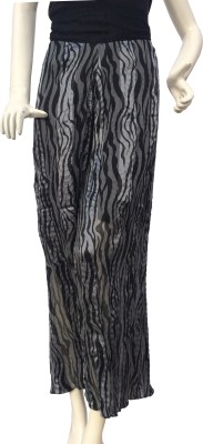 Jupi Regular Fit Women,s Black, Silver Trousers