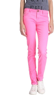 Only Regular Fit Women's Pink Trousers