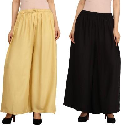 Guru Nanak Fashions Regular Fit Women's Beige, Black Trousers