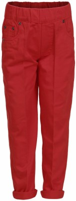 benext Regular Fit Boy's Red Trousers