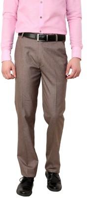 Zeco Regular Fit Men's Brown Trousers
