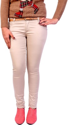 Cws Fashion Slim Fit Women's Beige Trousers