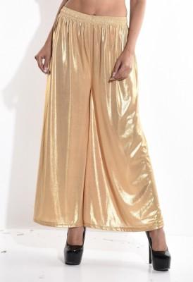Sohniye Regular Fit Women's Gold Trousers