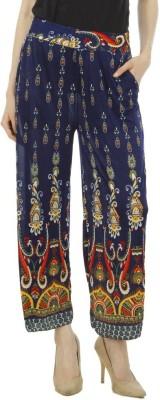 Camey Regular Fit Women's Blue Trousers