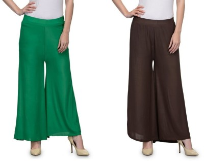 Luv Valentina Regular Fit Women's Green, Brown Trousers