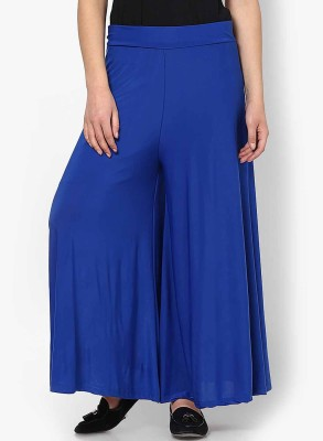 Kamakshi Krafts Regular Fit Women's Blue Trousers at flipkart
