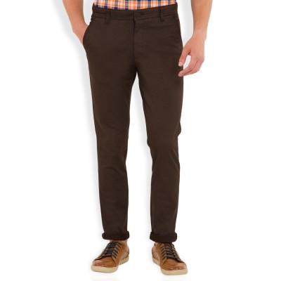 HIGHLANDER Slim Fit Men's Brown Trousers