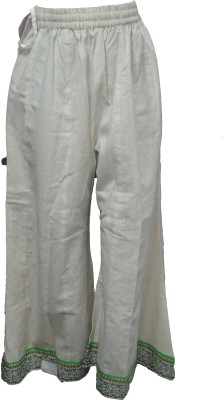 Vg store Regular Fit Women's White Trousers