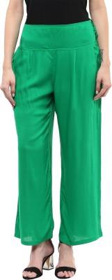 Sakhi Sang Regular Fit Women's Green Trousers