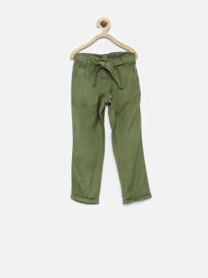 Yk Regular Fit Girl's Dark Green Trousers