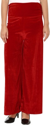 Shahfali Regular Fit Womens Red Trousers