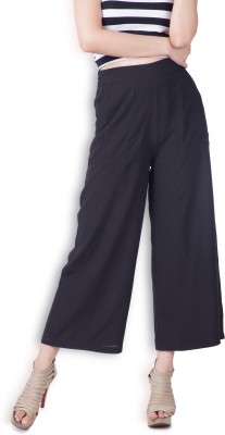 Zink London Women's Black Trousers at flipkart