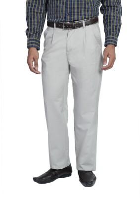 Live In Regular Fit Men's Grey Trousers