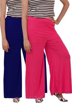 Ace Regular Fit Women's Pink, Blue Trousers
