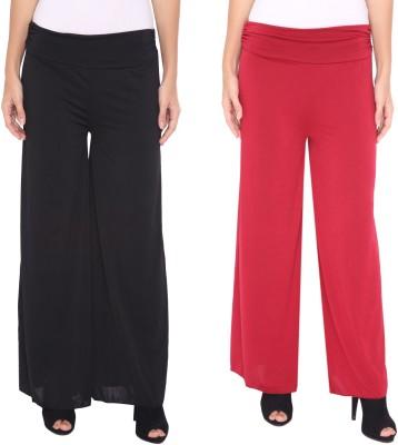 Zadine Regular Fit Women,s Black, Red Trousers