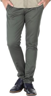 Slub By INMARK Regular Fit Men's Green Trousers