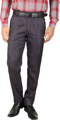 Larwa Regular Fit Men's Purple Trousers