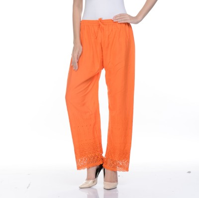 Awesome Regular Fit Women's Orange Trousers