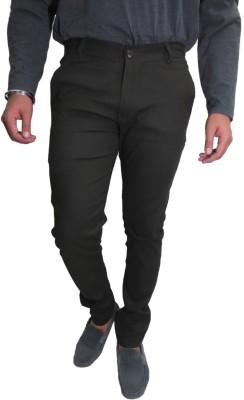 Roadcrack Slim Fit Men,s Green Trousers