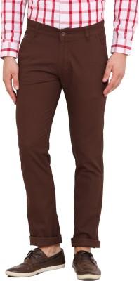 Dais Slim Fit Men's Brown Trousers