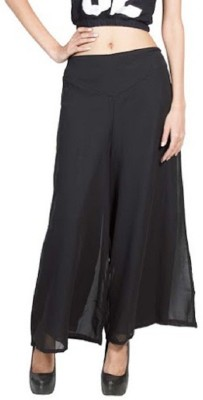 PINK SISLY Regular Fit Women's Black Trousers
