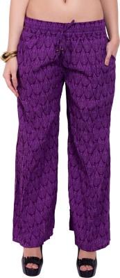 Tuntuk Regular Fit Women's Purple Trousers