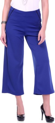 Sassafras Regular Fit Women's Blue Trousers at flipkart