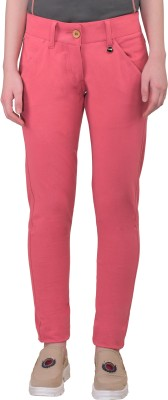JumpUSA Regular Fit Women's Pink Trousers at flipkart