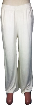 Bluedge Regular Fit Women's White Trousers